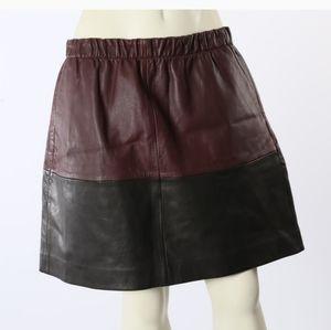 Vince Leather Skirt